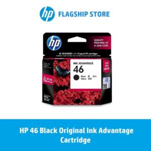 badgeHP 46 Black Original Ink Advantage Cartridge / HP DeskJet: 2029 / 2529 / 4729