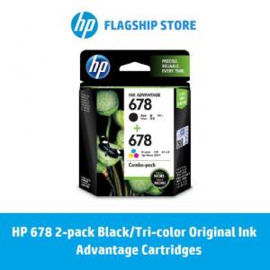 HP 678 2-pack Black/Tri-color Original Ink Advantage Cartridges / HP Deskjet 4645