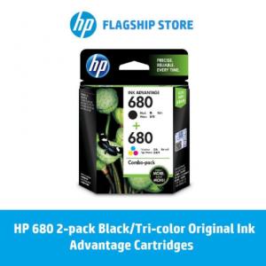 HP 680 2-pack Black/Tri-color Original Ink Advantage Cartridges / HP Deskjet : 3835 / 2135 / 2675 / 2676 / 2677 / 3786 / 5075 / 5076 / 5275 / 5276